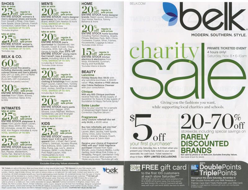Spring Belk Charity Sale. K likes. The Spring Belk Charity Sale is a private ticketed event on Saturday May 5 from am. Tickets are on.